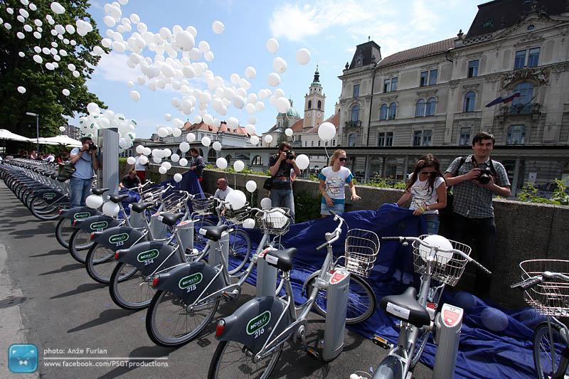 Otvoritev sistema ljubljanskih BicikLJev